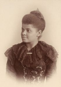 Ida B. Wells Barnett, in a photograph by Mary Garrity from c. 1893