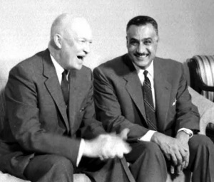 Positive Outcome:  Presidents Eisenhower and Nasser meeting in New York, 1960