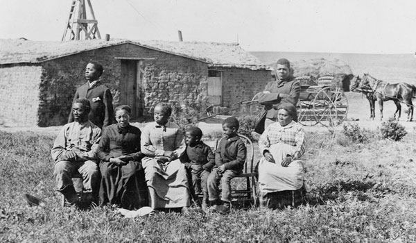 Bureau of Land Management photo of an African-American family who took advantage of The Homestead Act