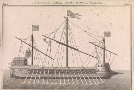 Venetian galleas at the Battle of Lepanto, PX8356