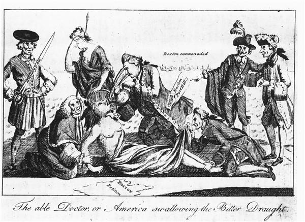 Cartoon showing metaphorical rape of colonies by British